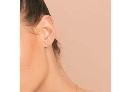 Christelle dit Christensen Christelle Christensen Bo earring coeur S