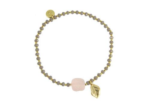 Les Cleias Armbandje Elyse rose quartz