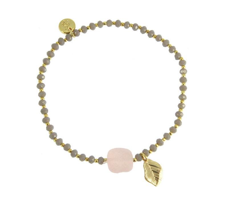 Armbandje Elyse rose quartz