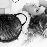 Marie Martens handtas Mezzo Trianon Black Croco