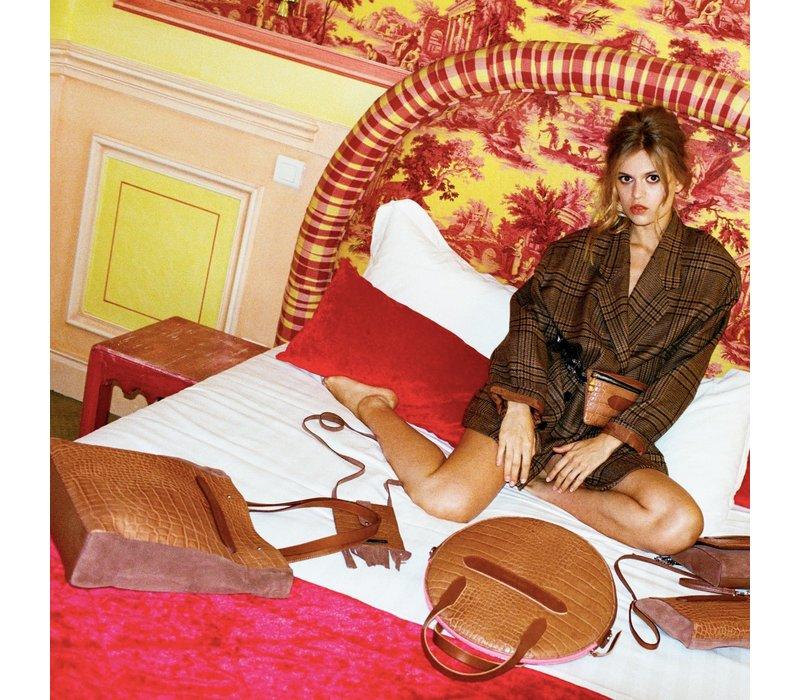 Marie Martens handtas Tokyo Camel Croco