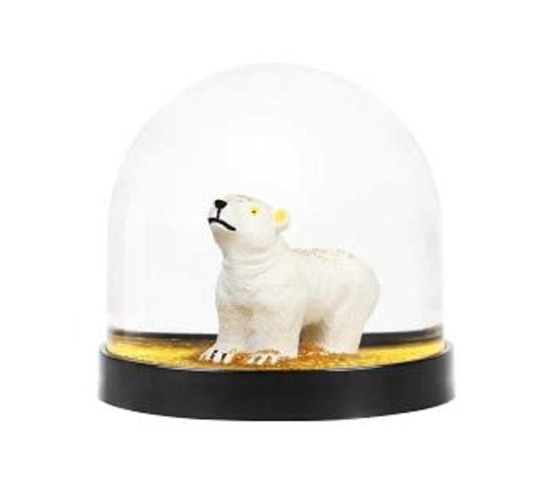 Klevering wonderball polar bear gold glitter