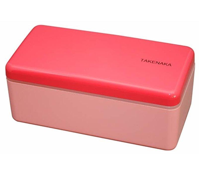 Takenaka Bento lunchbox rectangle slim rose
