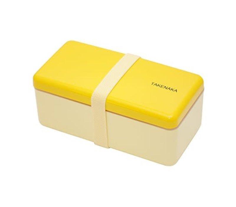 Takenaka Bento lunchbox rectangle slim yellow