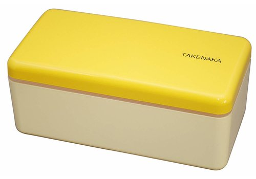 Takenaka Takenaka Bento lunchbox rectangle slim yellow