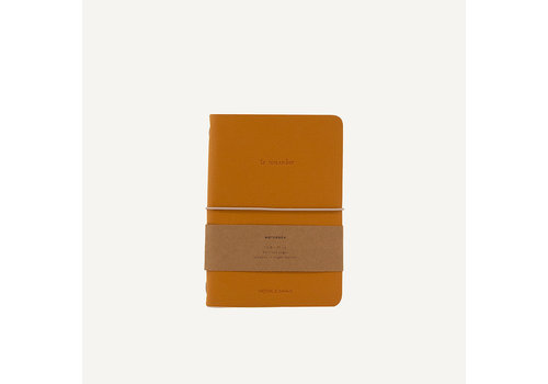 Monk & Anna Monk & Ann Notebook vegan Leather Honey