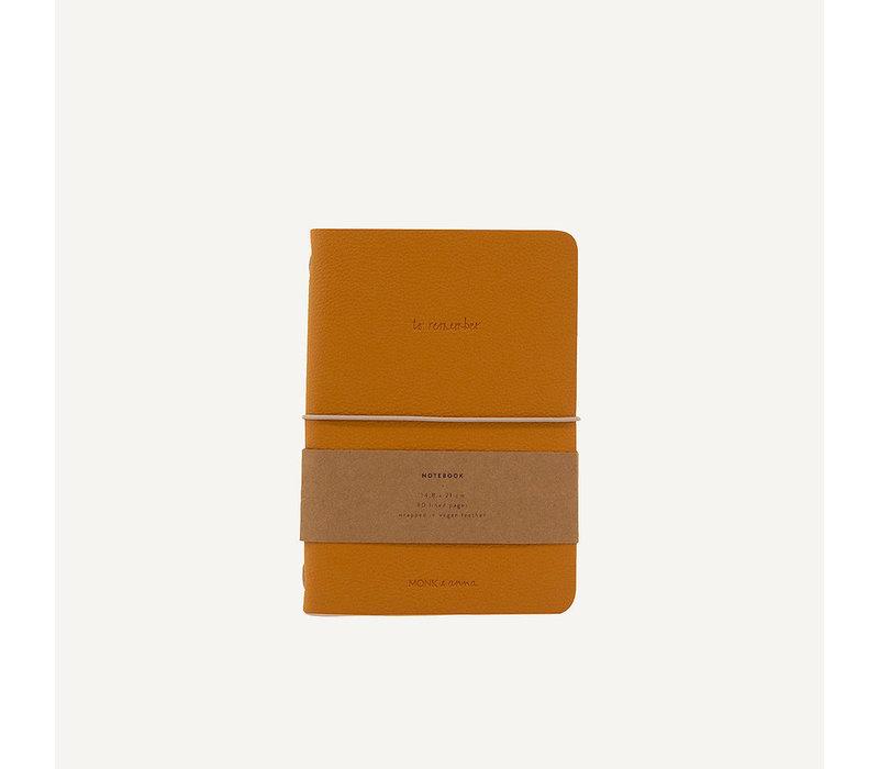 Monk & Ann Notebook vegan Leather Honey
