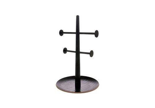 HK living Juwelenrek black wooden/metal