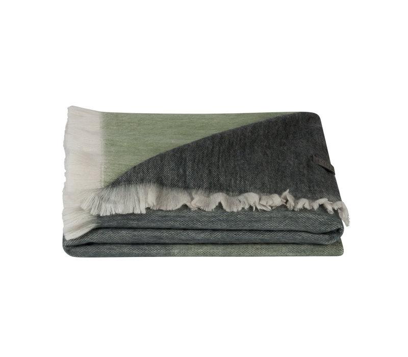 Bufandy Alpaca Sjaal Fabian Ombre Emerald Ocean
