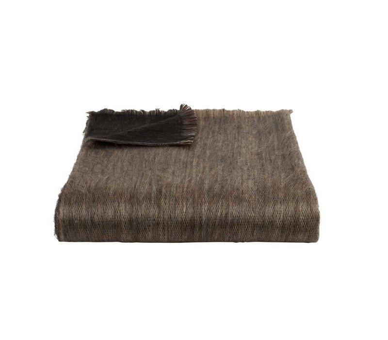 Bufandy Alpaca Sjaal Fabian Doble black & sandstone