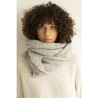 Leselles knitwear sjaal Alice grey marble