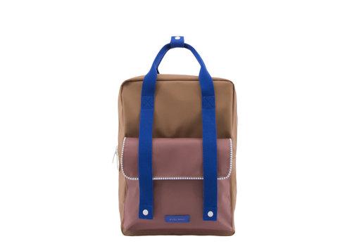 Sticky Lemon Sticky lemon Backpack Deluxe large Sugar brown + hotel brick + ink blue