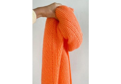 Leselles Knitwear Sjaal Jille velvet clementine