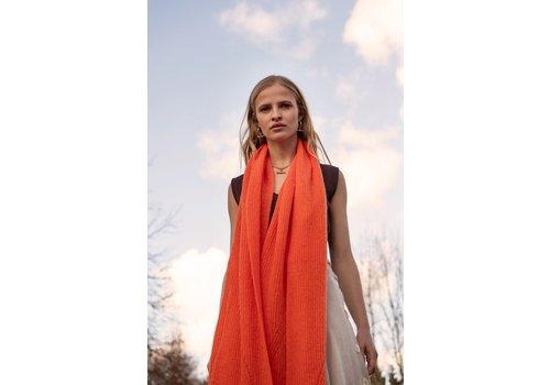 Leselles Knitwear Sjaal jille orange marmelade