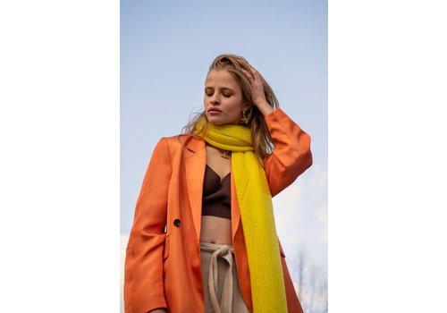 Leselles Knitwear Sjaal Jille neon yellow