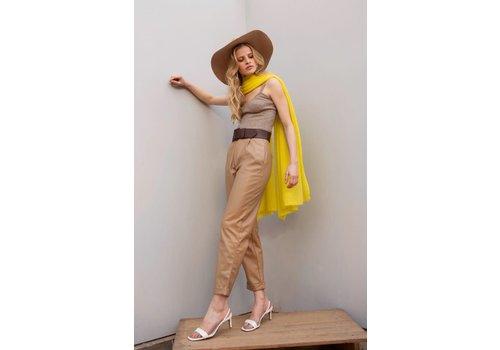 Leselles Knitwear Sjaal Helene neon yellow