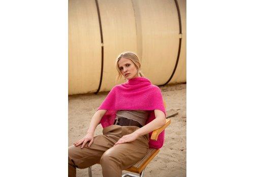 Leselles Knitwear Sjaal Jille peacock pink