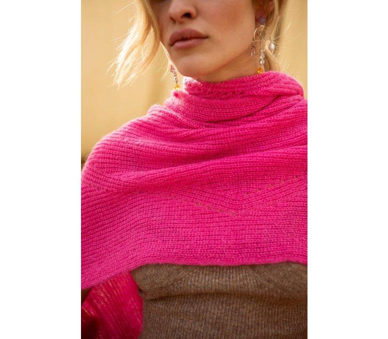 Sjaal Jille peacock pink