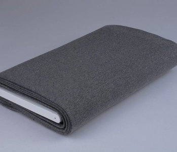 Cuff fabric Dark grey melange