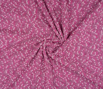 Bouclé Embroidered Fuchsia