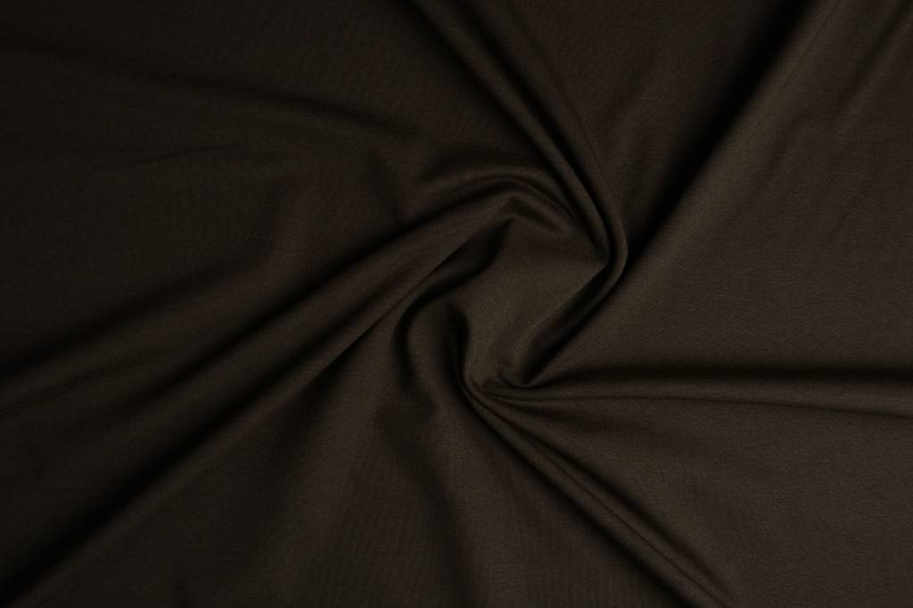 Oeko-Tex®  Cotton Jersey Donker bruin