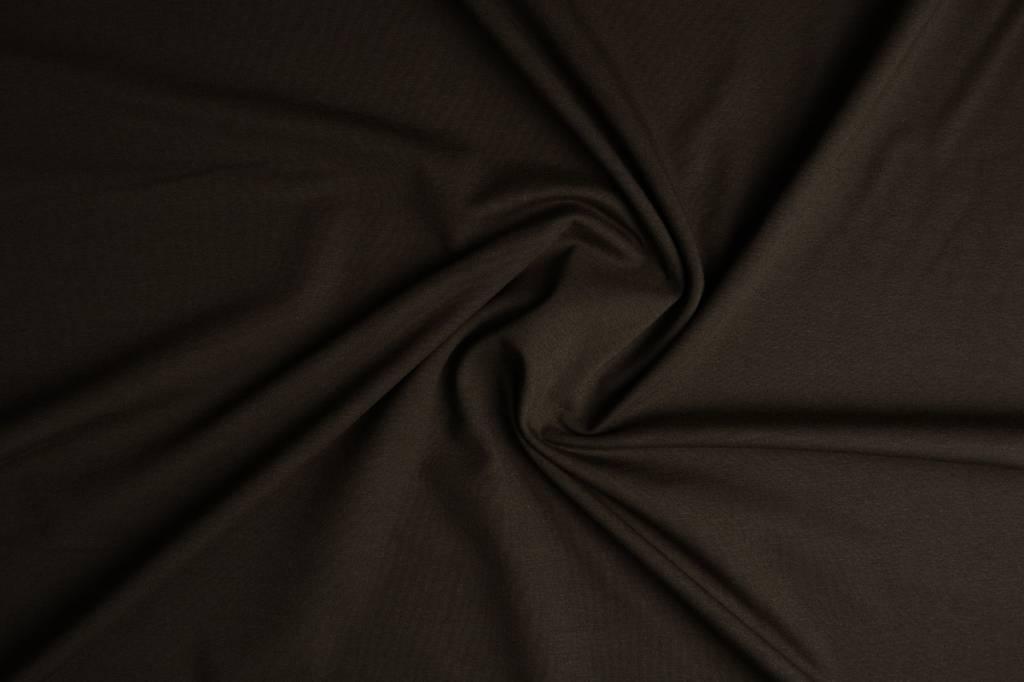 Oeko-Tex®  Jersey Stoff Baumwolle Dunkel Braun