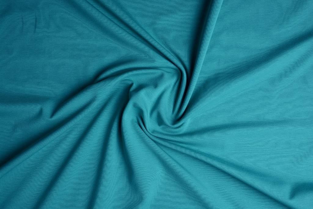 Oeko-Tex®  Jersey Stoff Baumwolle meergrün