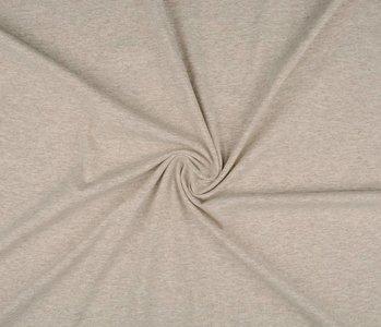 Oeko-Tex®  Jersey Stoff Baumwolle Zand Meliert