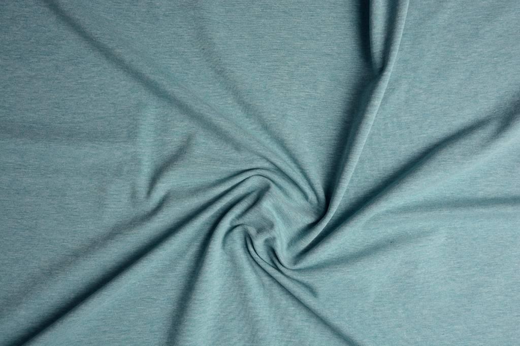 Oeko-Tex®  Jersey Stoff Baumwolle Jeans Meliert