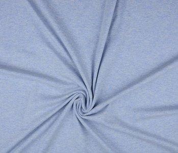 Oeko-Tex®  Jersey Stoff Baumwolle Grau-Blau Meliert