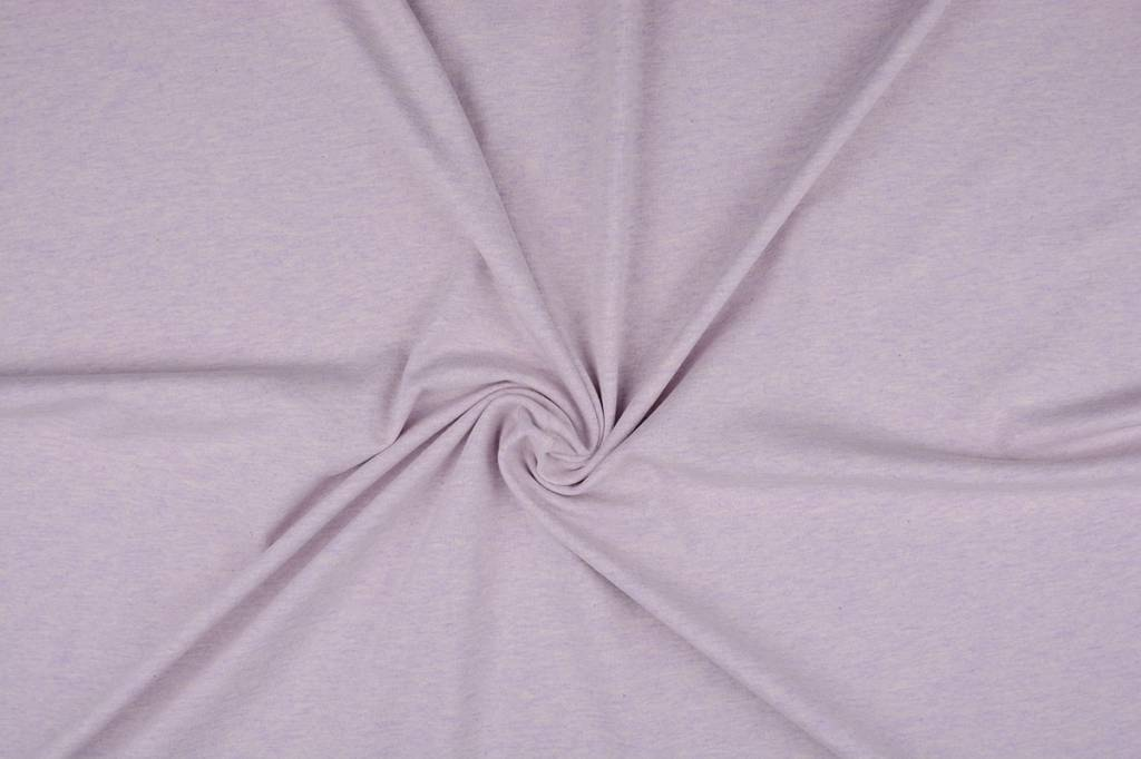 Oeko-Tex®  Jersey Stoff Baumwolle Flieder Meliert