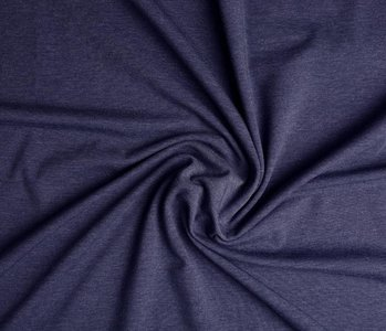 Oeko-Tex®  Jersey Stoff Baumwolle Dunkel jeans Meliert