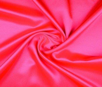 Crêpe Satin Fluor pink