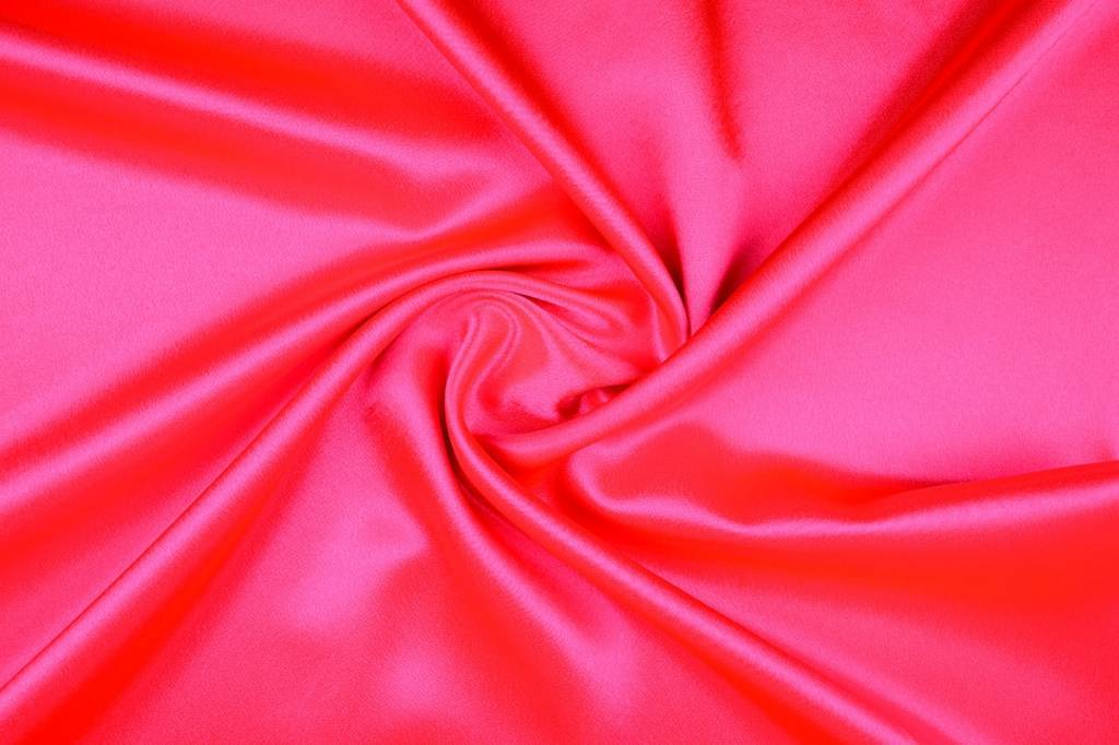 Crèpe Satin Fluor Rosa