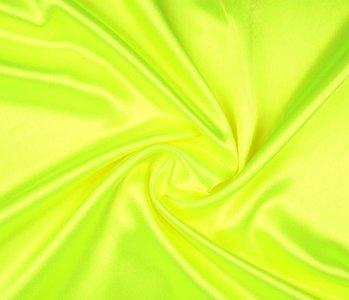 Crêpe Satijn Fluor geel