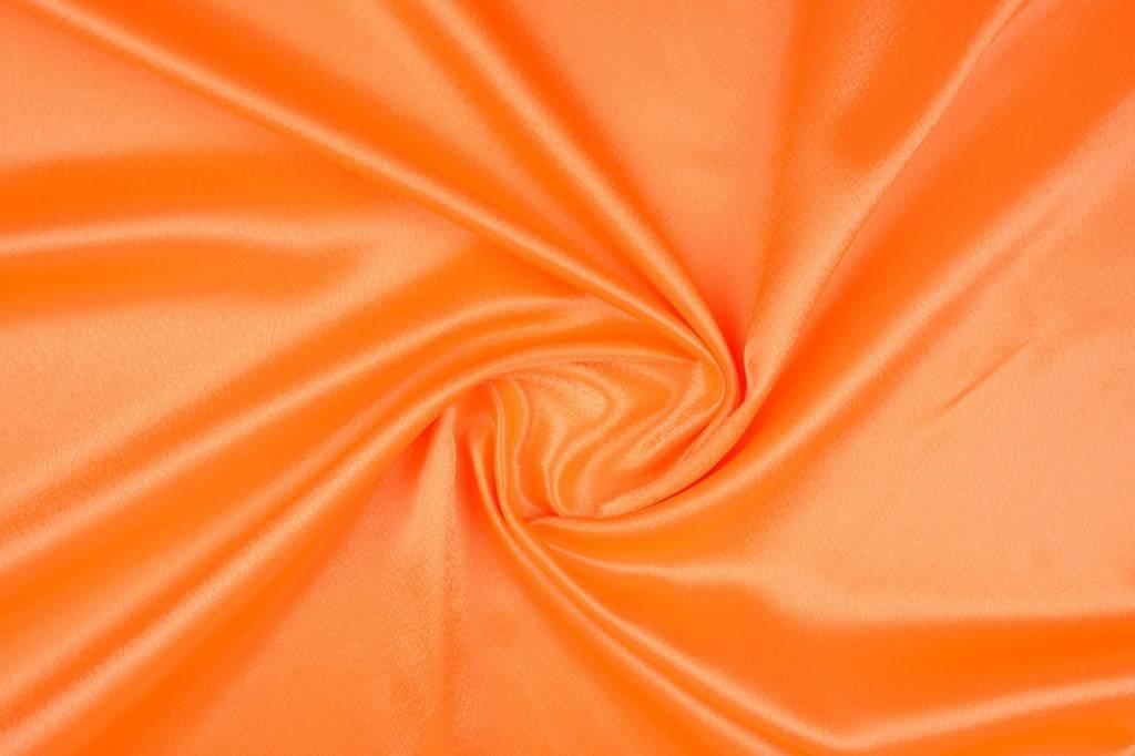 Crêpe Satijn Fluor oranje