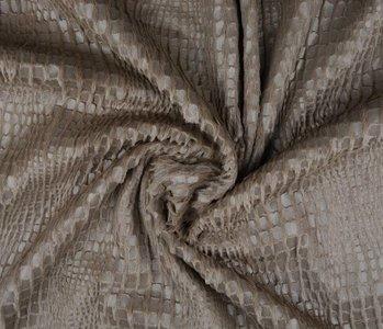 Fur Snake Foil Blinkend Taupe