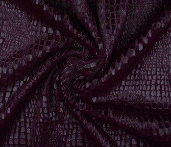 Fur Snake Foil Blinkend Bordeaux