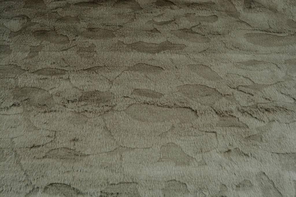 Nachahmung Pelzigen Stoff Dunkel kaki