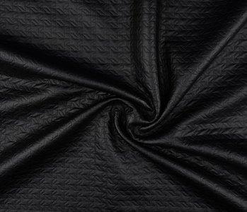 Jersey lamé doorgestikt mat Mat zwart 1