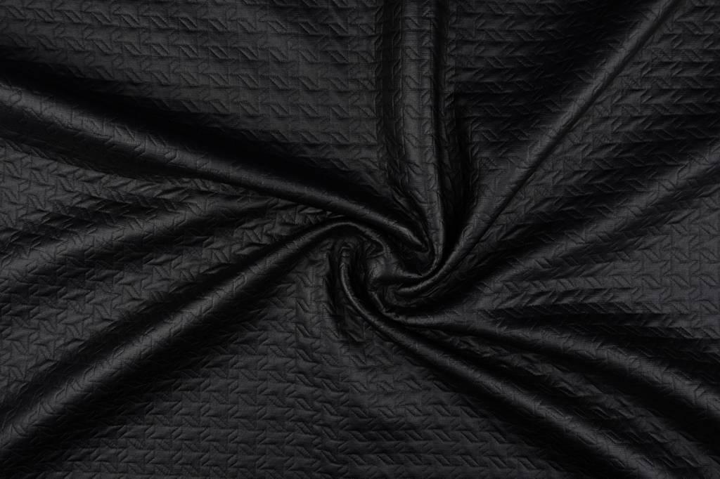 Jersey Folienjersey doorgestikt mat Mat Schwarz 1