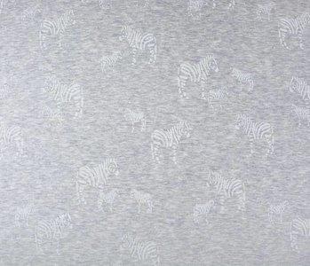 Jogging Alpenfleece Zebra glitter Zilver
