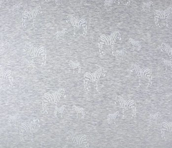SweatStoff Alpenfleece Zebra Glitzer Zilver