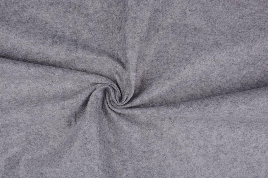 Koreaans vilt 1 mm Licht grijs Melange