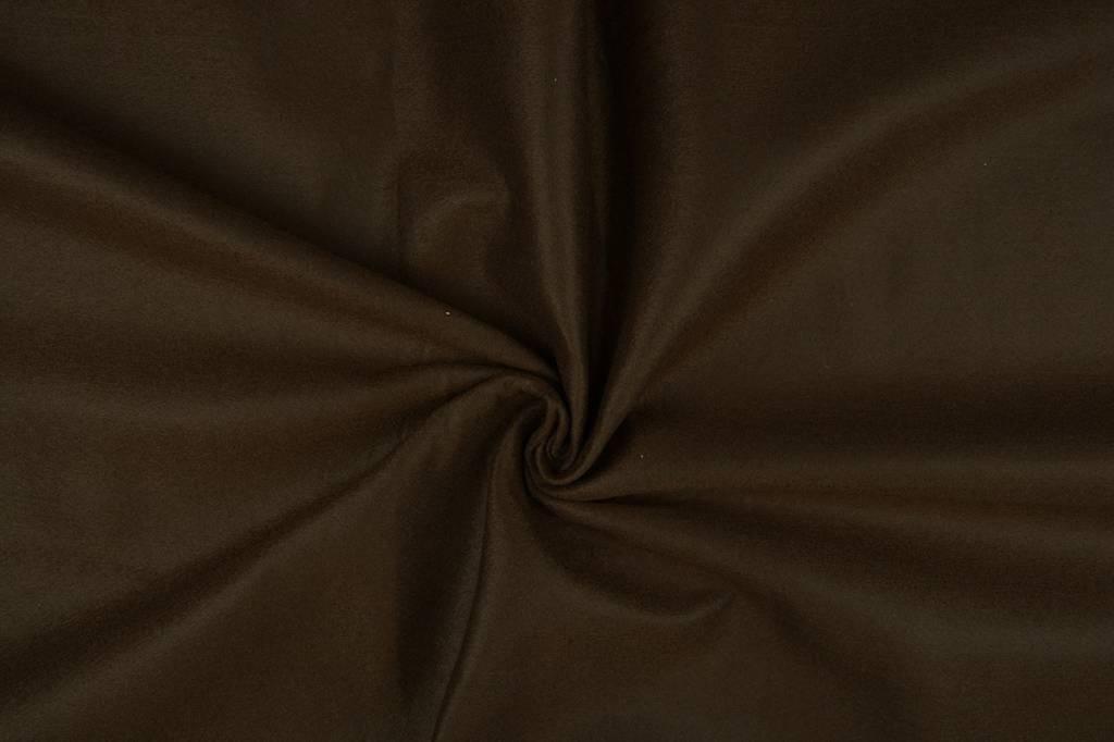 Koreaans vilt 1 mm Donker bruin