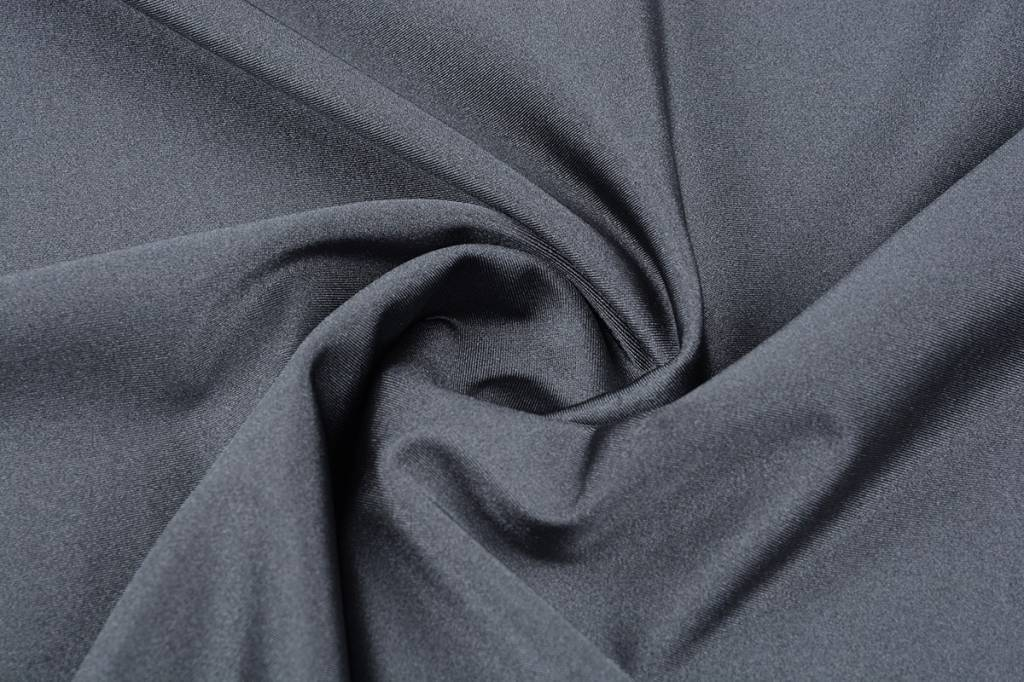Lycra Stoff Glänzendes Grau