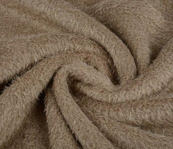 Maus-Haar Fleece Dunkel zand