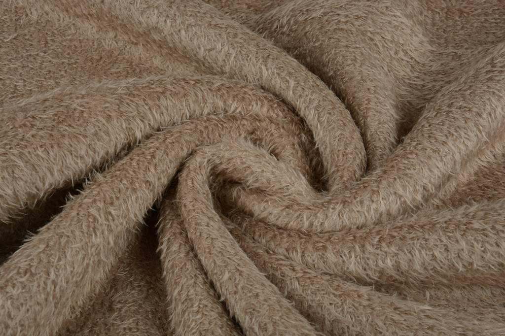 Muishaar fleece Donker zand