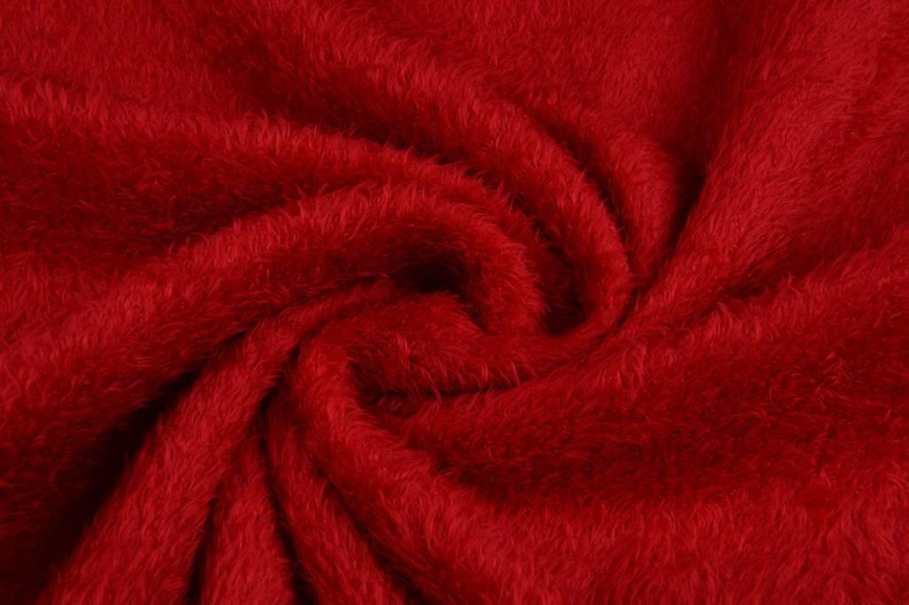 Maus-Haar Fleece Rot