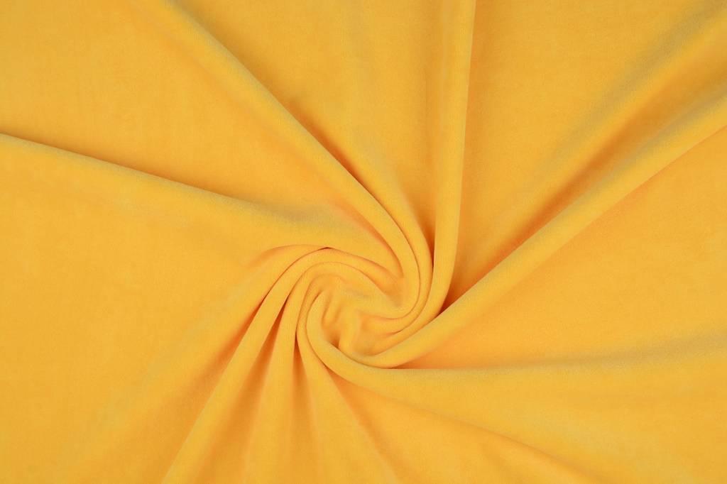 Nicky Velours Kanarienvogel Gelb